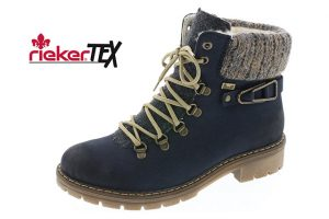 Rieker Y9131-14 Navy waterproof lace zip boot Sizes - 37 to 42 Price - £69.00 NOW £59.00