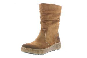 Rieker Z6651-24 Tan Mid zip boot Sizes - 37 to 41 Price - £59.00 NOW £49.00