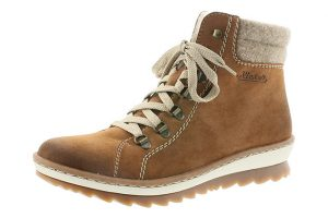 Rieker Z8610-24 Tan warm lined lace zip boot Sizes - 37 to 41 Price - £59.00 NOW £49.00