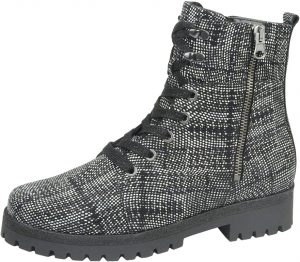 Waldlaufer 338813 Hanako Black white zip/lace boot   Sizes - 6 and 6.5 only.   Price - £89 NOW £49