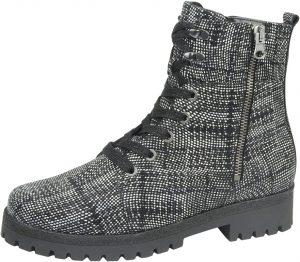 Waldlaufer 338813 Hanako Black white zip lace boot Sizes - 4 to 6.5 Price - £92