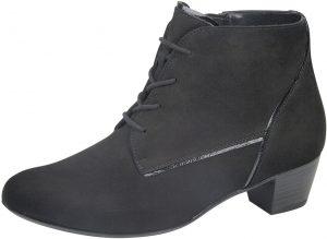 Waldlaufer 358804 Hilaria Black nubuck lace zip ankle boot Sizes - 4 to 7 Price - £95