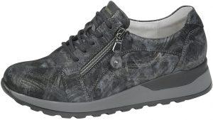 Waldlaufer 364023 Hiroko Ganite grey multi lace zip shoe Sizes - 4 to 8 Price - £72.00 NOW £65.00