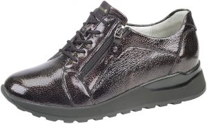 Waldlaufer 364023 Hiroko Rock rost patent lace zip shoe Sizes - 8 only Price - £72.00 NOW £65.00