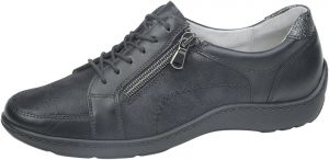 Waldlaufer 496042 Henni Black combi lace zip shoe Sizes - 4.5 to 7 Price - £75