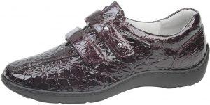 Waldlaufer 496301 Henni Burgundy patent croc velcro shoe Sizes - 4.5 to 7 Price - £75