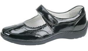 Waldlaufer 496302 Henni Black patent bar shoe Sizes - 4 to 8 Price - £75.00