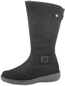 Waldlaufer 533904 Hoja Black nubuck fur lined zip boot Size -  6 only.  Price - £129 Now £79