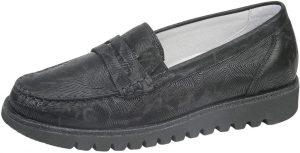 Waldlaufer 926504 Habea Black west pattern loafer shoe Sizes - 4.5 to 7 Price - £75.00