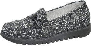 Waldlaufer 926504 Habea Black white multi loafer shoe Sizes - 4 to 7 Price - £69