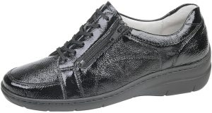 Waldlaufer 931003 Hania Black patent lace/zip shoe   Sizes - 3.5 and 4.5 only.  Price - £72  Now £59