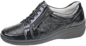 Waldlaufer 931003 Hania Black patent lace zip shoe Sizes - 3.5 to 6.5 Price - £72.00 NOW £65.00
