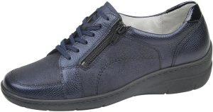 Waldlaufer 931003 Hania Navy metallic zip lace wedge shoe Sizes - 4.5 to 7 Price - £72.00 NOW £65.00