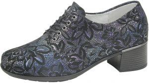Waldlaufer 946001 Hafren Black floral multi lace shoe Sizes - 4.5 to 7 Price - £72.00 NOW £65.00