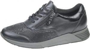 Waldlaufer 964H01 Halice Black zip lace shoe Sizes - 4 to 7 Price - £79