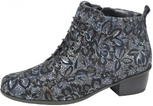 Waldlaufer 967809 Haifi Blue floral multi lace zip boot Sizes - 4 to 7 Price - £92.00 NOW £79.00