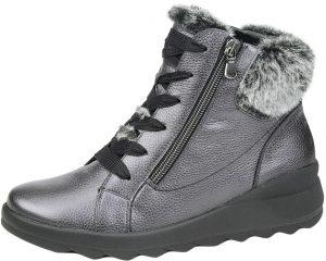 Waldlaufer 986802 H Jasmin Anthracite metallic fur zip lace boot Sizes - 4.5 to 7 Price - £92.00 NOW £79.00