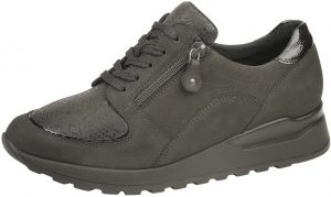 Waldlaufer H64007 Hiroko Soft Dark brown stretch panel zip lace shoe Sizes - 4.5 to 7 Price - £72.00 NOW £65.00