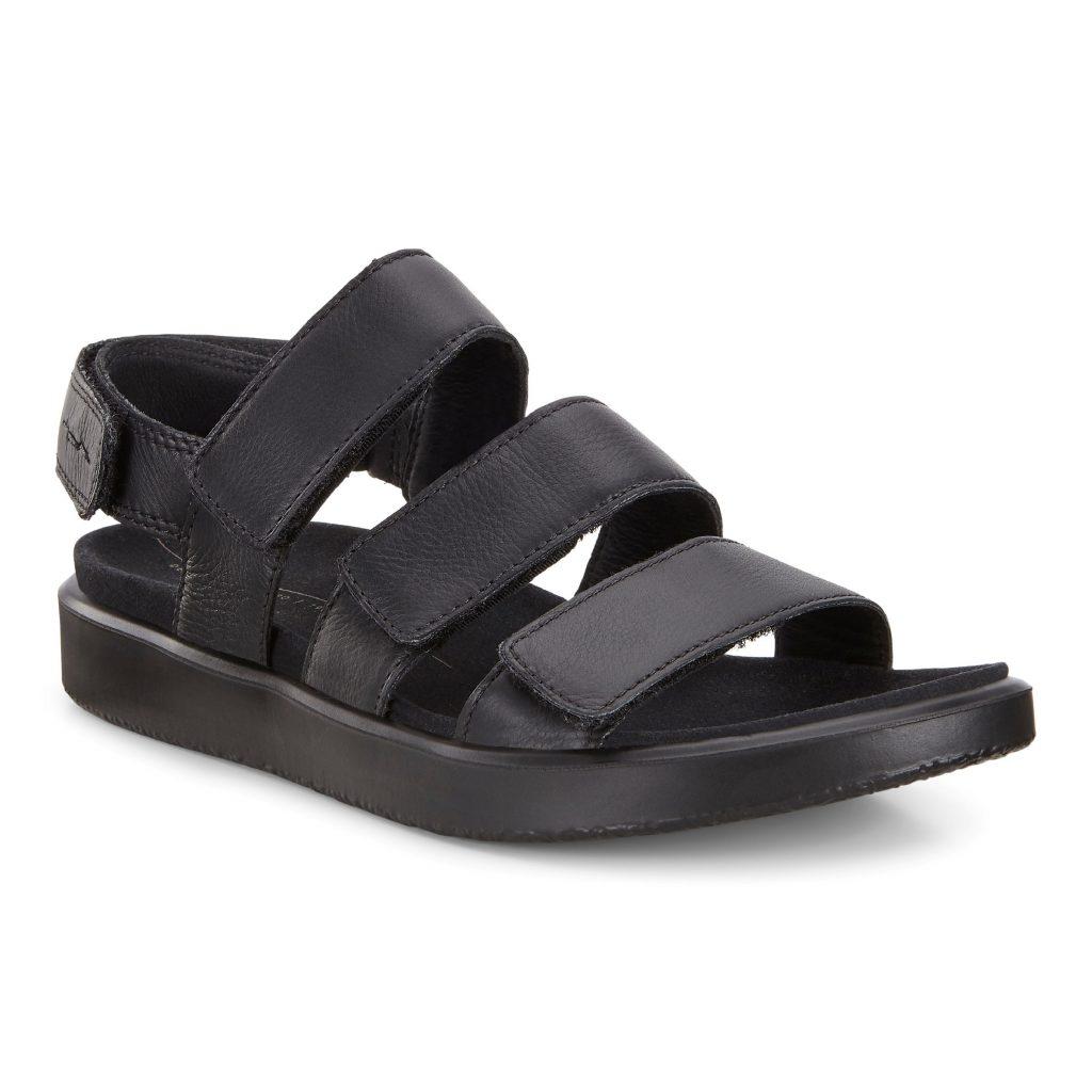 Ecco 273633 Flowt Black 3 strap sandal Sizes - 37 to 40 Price - £90.00 (15% OFF) Now £76.00