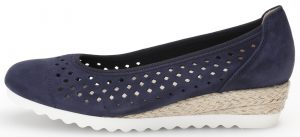 Gabor 42.642.36 Evelyn Blue punched wedge Sizes - 4 to 7 Price - £85.00 (15% OFF) Now £72.00