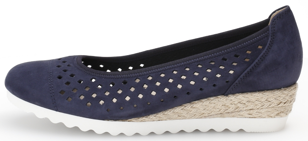 Gabor 42.642.36 Evelyn Blue punched wedge Sizes - 4 to 7 Price - £85.00 (20% OFF) Now £68.00