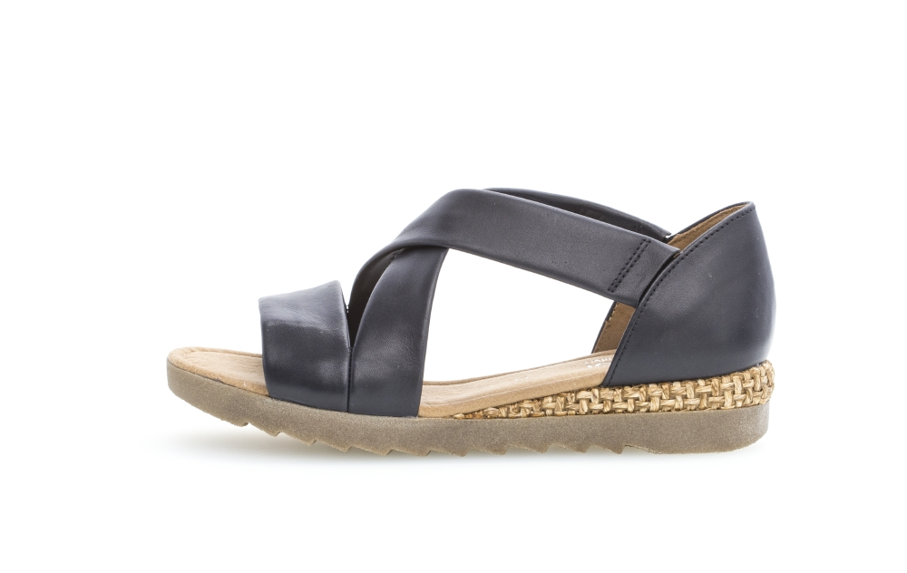 Gabor 42.711.85 Promise Midnight cross strap sandal Sizes - 4 to 7 Price - £85.00 (15% OFF) Now £72.00