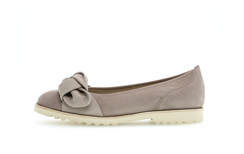 Gabor 44.103.14 Philosophy Nude suede bow pump Sizes - 4 to 7 Price - £95.00