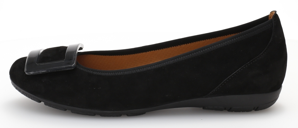 Gabor 44.164.17 Riband Black suede pump Sizes - 5 to 7 Price - £89.00