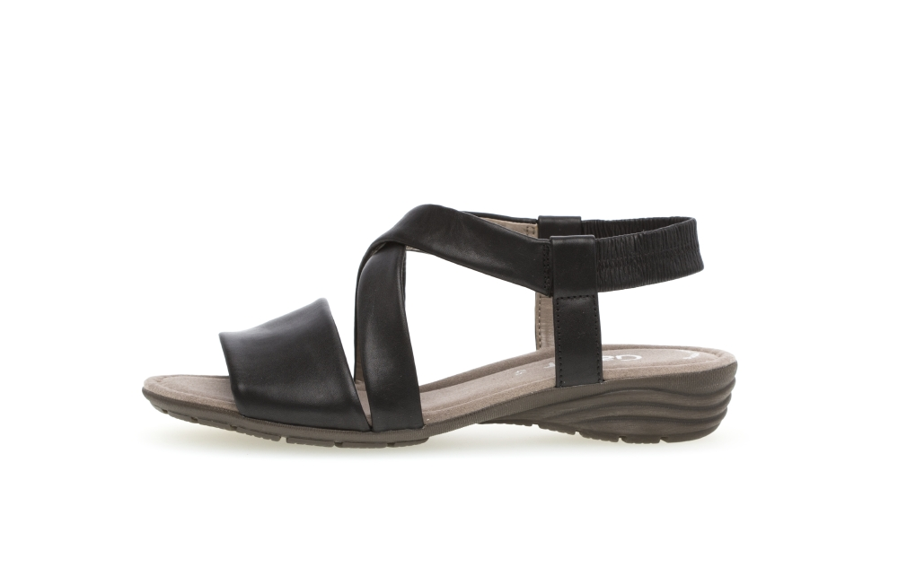 Gabor 44.550.27 Ensign Black soft leather sandal Sizes - 4 to 7 Price - £75.00