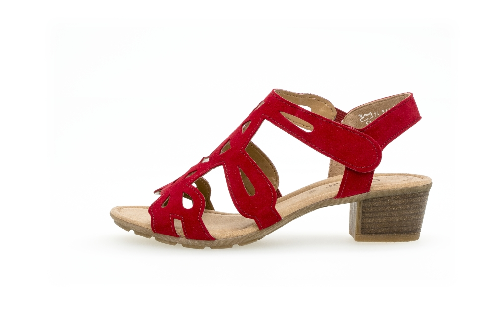 Gabor 44.561.15 Holycron Red suede sandal Sizes - 4 to 7 Price - £75.00 (20% OFF) Now £60.00