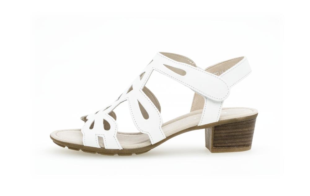 Gabor 44.561.21 Holycron White leather sandal Sizes - 4 to 7 Price - £75.00 (20% OFF) Now £60.00