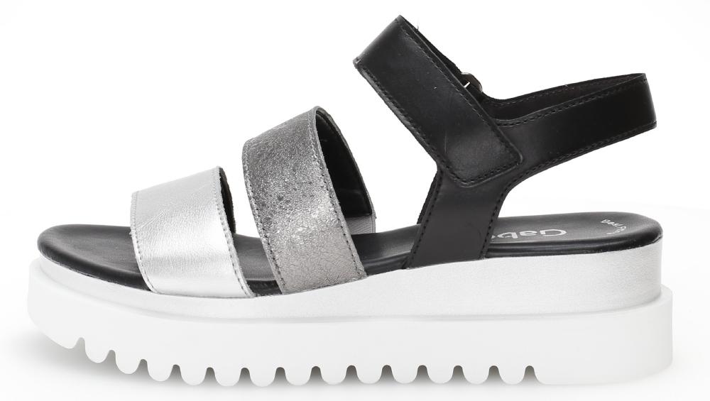 Gabor 44.610.61 Billie Blasck silver multi strap sandal Sizes - 4 to 7 Price - £85.00