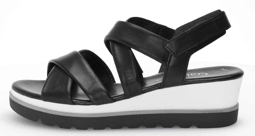 Gabor 44.644.27 Yvanna Black white wedge sandal Sizes - 4 to 7 Price - £85.00 (20% off) Now £68.00