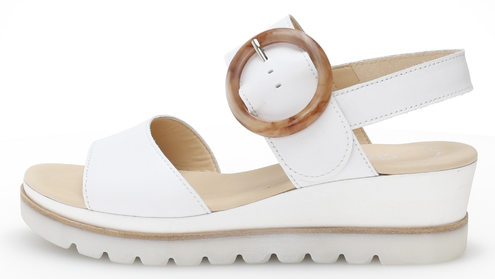 Gabor 44.645.21 Yeo White leather ring wedge sandal Sizes - 4 to 7 Price - £85.00 (20% OFF) Now £68.00