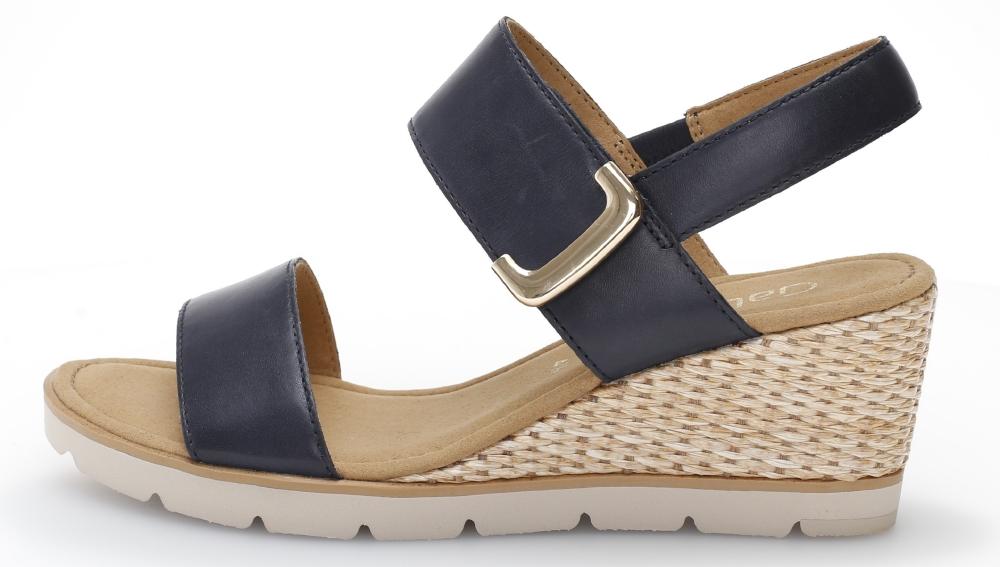 Gabor 45.751.26 Porter Navy leather wedge sandal Sizes - 4 to 7 Price - £89.00