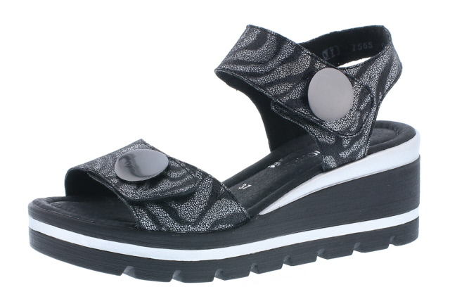 Remonte D1565-02 Black stripe twin strap sandal  Sizes - 37 to 41  Price - £65.00 (20% off) Now £52.00