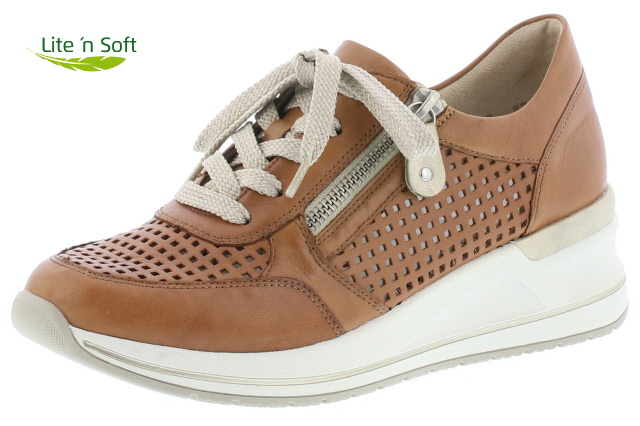 Remonte D3200-24 Tan wedge lace shoe  Sizes - 37 to 41  Price - £77.00 (20% off) Now £65.00