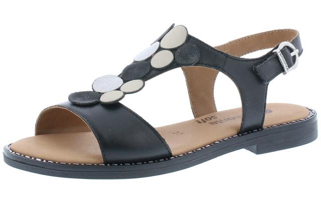 Remonte D3655-01 Black metallic multi sandal  Sizes - 37 to 42  Price - £62.00 (20% off) Now £49.00