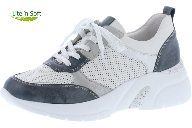 Remonte D4100-81 Navy white multi lace wedge shoe  Sizes - 37 to 41  Price - £75.00 (20% OFF) Now £60.00
