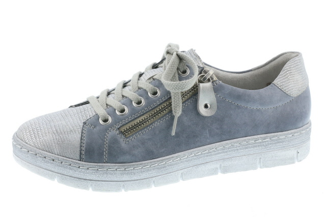 Remonte D5800-13 Jeans silver multi lace shoe  Sizes -36 to 41 Price - £69.00 (20% off) Now £55.00