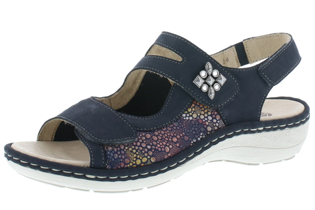 Remonte D7647-14 Navy multi twin strap sandal  Sizes - 37 to 42  Price - £62.00 (20% off) now £49.00