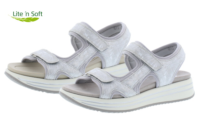 Remonte R2957-40 white grey twin strap sandal  Sizes - 37 to 41   Price - £67.00 (20% off) Now £53.00
