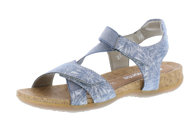 Remonte R3257-12 blue silver cross strap sandal  Sizes  - 37 to 41   Price - £57.00 (20% OFF) Now £45.00