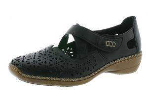 Rieker 413J0-00 black bar shoe Sizes - 37 to 41 Price - £59.00