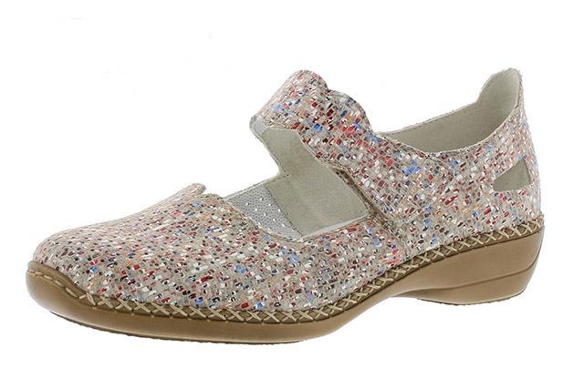 Rieker 413J2-60 beige multi bar shoe Sizes - 37 to 41 Price - £55.00 (20% off) £44.00