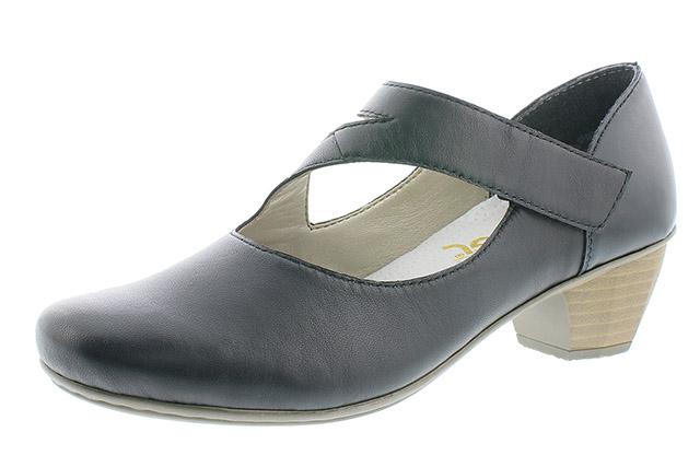 Rieker 41793-03 black cross strap heel shoe Sizes - 37 to 41 Price - £55.00 (20% off) £44.00