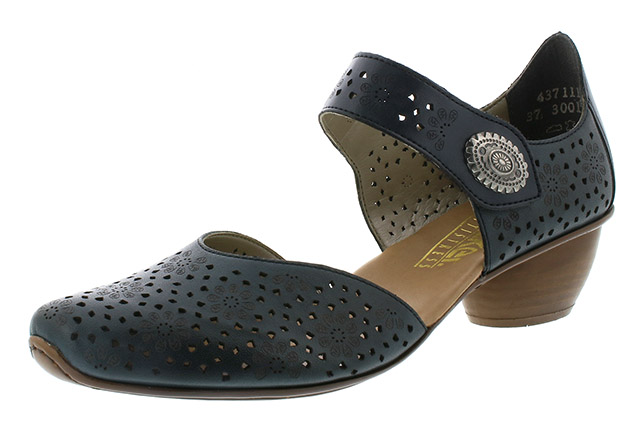 Rieker 43711-15 navy strap heel shoe Sizes - 37 to 42 Price - £57.00 (20% off) £45.00