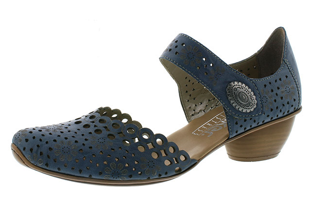 Rieker 43753-12 blue strap heel shoe Sizes - 36 to 41 Price - £55.00 (20% off) £44.00
