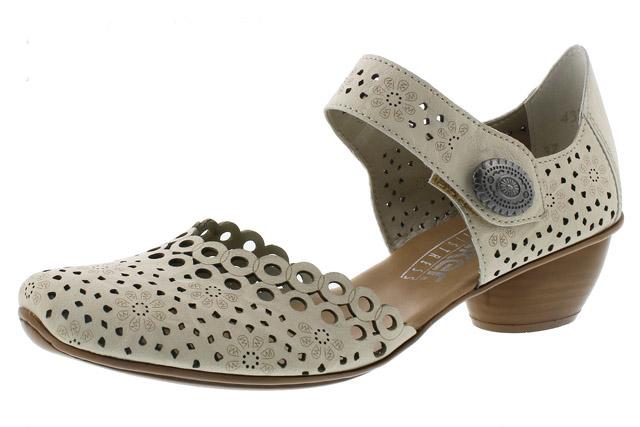 Rieker 43753-60 cream strap heel shoe Sizes - 37 to 41 Price - £55.00