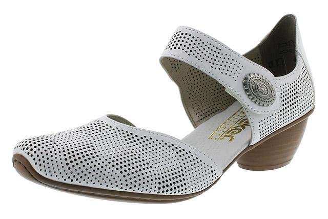 Rieker 43767-80 white strap heel shoe Sizes - 37 to 41 Price - £55.00